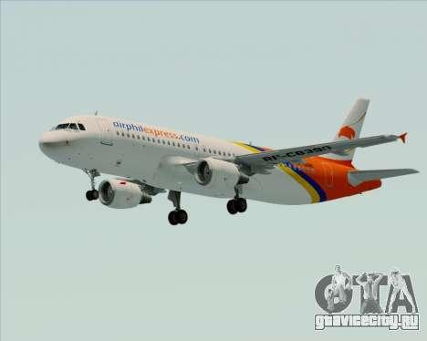 Airbus A320-200 Airphil Express для GTA San Andreas вид изнутри