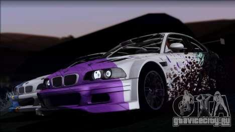BMW M3 E46 GTR для GTA San Andreas