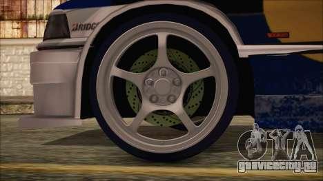 BMW E36 Coupe Bridgestone Red Bull для GTA San Andreas вид сзади слева