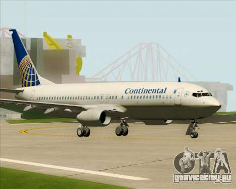 Boeing 737-800 Continental Airlines для GTA San Andreas вид сзади слева