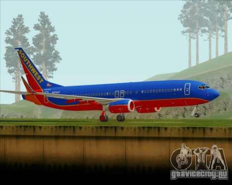 Boeing 737-800 Southwest Airlines для GTA San Andreas вид слева