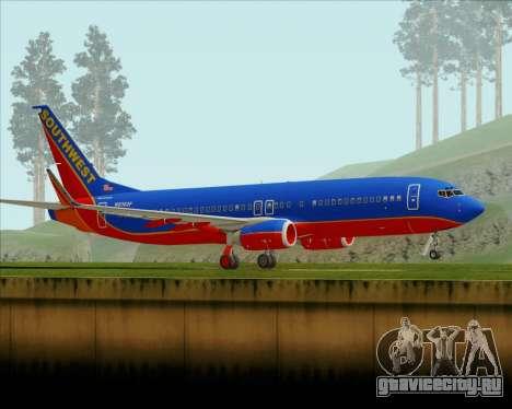 Boeing 737-800 Southwest Airlines для GTA San Andreas вид слева