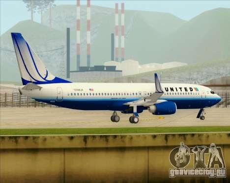 Boeing 737-800 United Airlines для GTA San Andreas вид снизу
