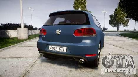 Volkswagen Golf GTI 2010 для GTA 4 вид сзади слева