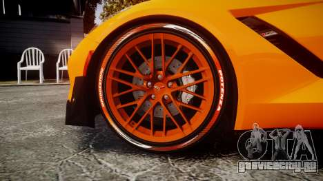 Chevrolet Corvette Z06 2015 TireBr1 для GTA 4 вид сзади