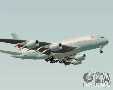 Airbus A380-800 Air Canada для GTA San Andreas вид снизу