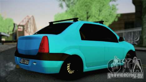 Dacia Logan Simply Clean для GTA San Andreas вид слева