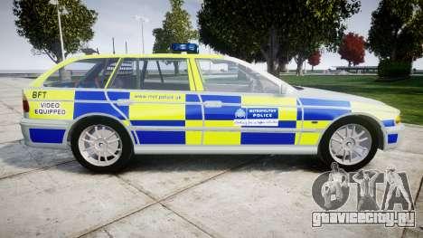 BMW 525i E39 Touring Police [ELS] BTV для GTA 4 вид слева