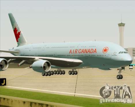 Airbus A380-800 Air Canada для GTA San Andreas вид сбоку