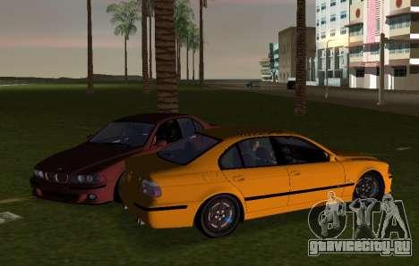 BMW M5 E39 для GTA Vice City вид сзади слева