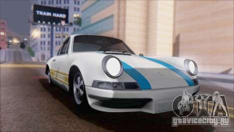 Porsche 911 Carrera 1973 Tunable KIT A для GTA San Andreas вид сзади