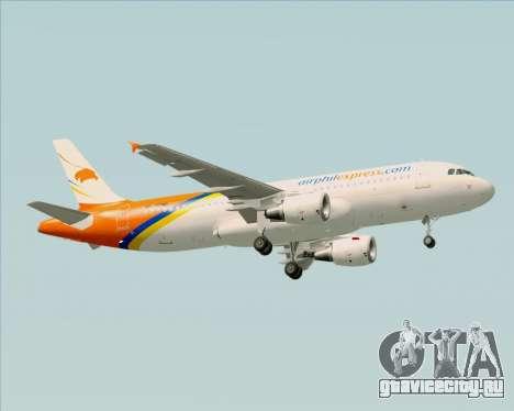 Airbus A320-200 Airphil Express для GTA San Andreas вид справа