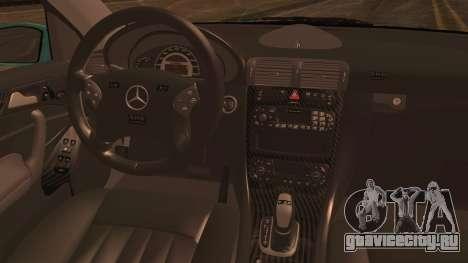 Mercedes-Benz C320 AMG для GTA San Andreas вид сзади слева