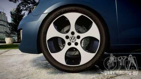 Volkswagen Golf GTI 2010 для GTA 4 вид сзади