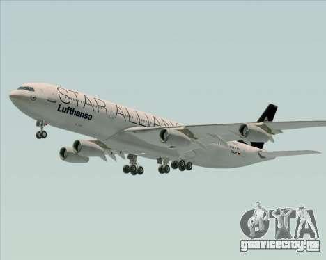 Airbus A340-300 Lufthansa (Star Alliance Livery) для GTA San Andreas колёса