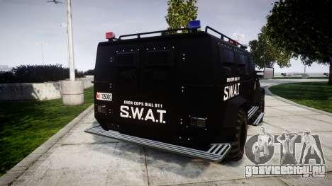 SWAT Van [ELS] для GTA 4 вид сзади слева