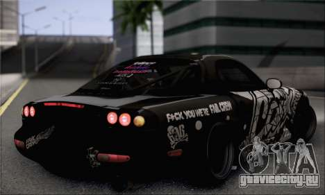 Mazda RX-7 Fail Crew для GTA San Andreas вид слева
