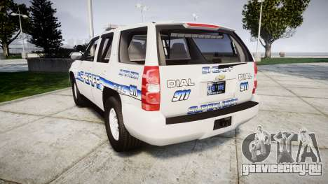 Chevrolet Tahoe [ELS] Liberty County Sheriff для GTA 4 вид сзади слева