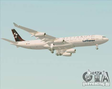 Airbus A340-300 Lufthansa (Star Alliance Livery) для GTA San Andreas вид справа