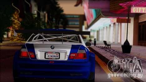 BMW M3 E46 GTR для GTA San Andreas вид слева