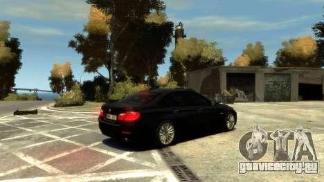 BMW 525 F10 для GTA 4 вид изнутри