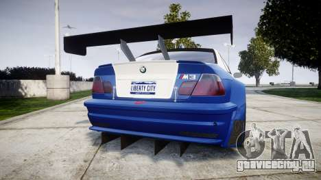BMW M3 E46 GTR Most Wanted plate Liberty City для GTA 4 вид сзади слева