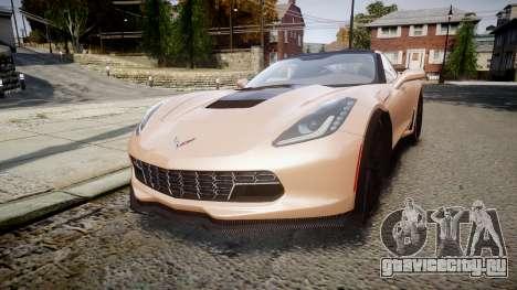 Chevrolet Corvette Z06 2015 TireBr2 для GTA 4