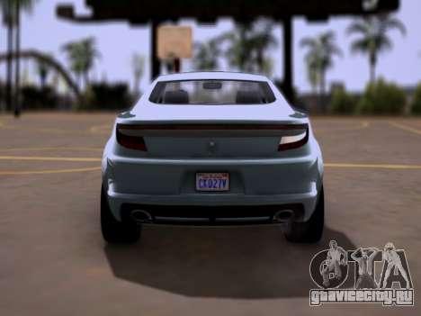 GTA V Ocelot Jackal для GTA San Andreas вид справа