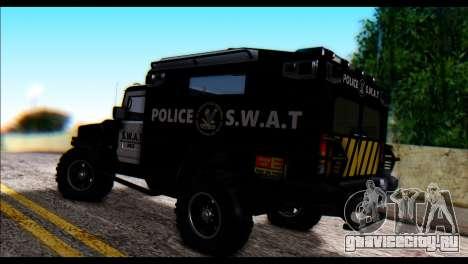 SWAT Enforcer для GTA San Andreas вид слева
