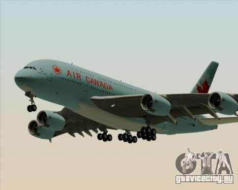 Airbus A380-800 Air Canada для GTA San Andreas вид сзади слева