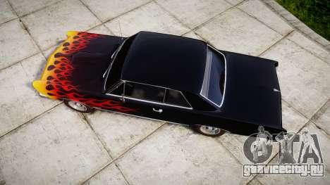 Pontiac GTO 1965 Flames для GTA 4 вид справа