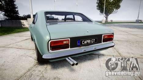Ford Capri GT Mk1 для GTA 4 вид сзади слева