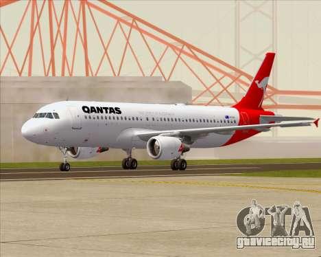 Airbus A320-200 Qantas для GTA San Andreas вид сзади слева