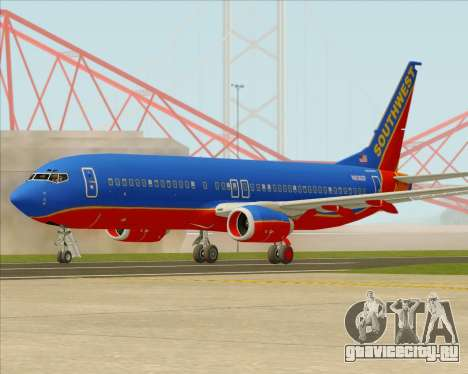 Boeing 737-800 Southwest Airlines для GTA San Andreas вид сзади