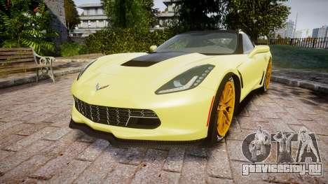 Chevrolet Corvette Z06 2015 TireGY для GTA 4