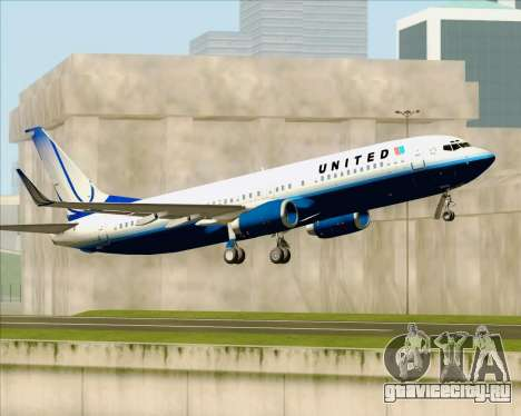 Boeing 737-800 United Airlines для GTA San Andreas