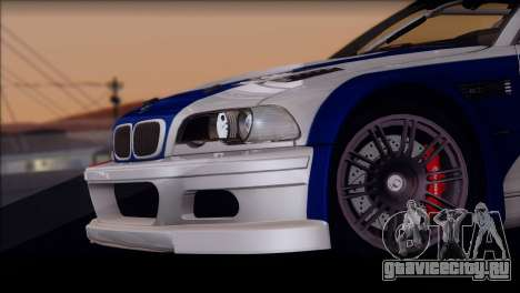 BMW M3 E46 GTR для GTA San Andreas вид изнутри