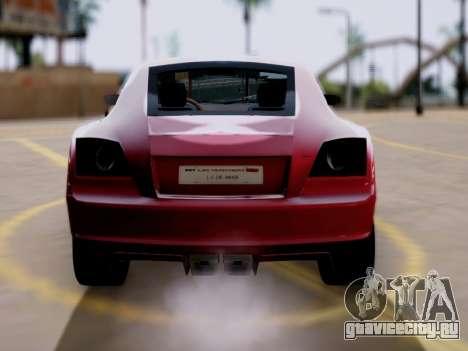 GTA 5 Fusilade для GTA San Andreas вид сзади слева