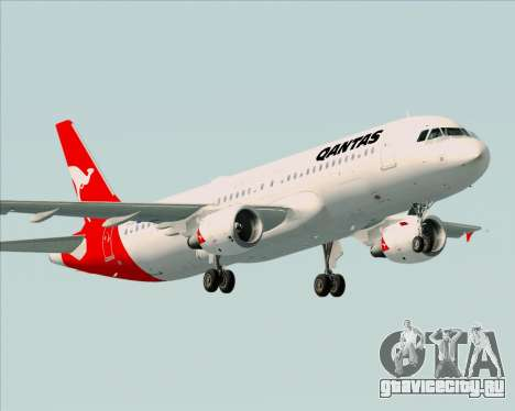 Airbus A320-200 Qantas для GTA San Andreas вид изнутри