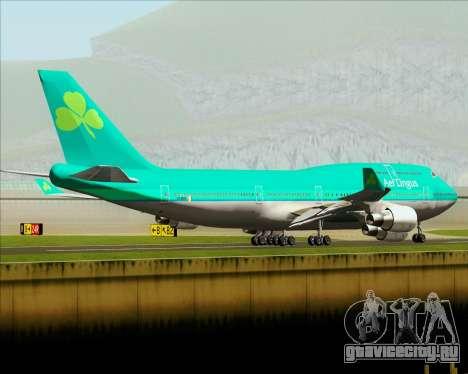 Boeing 747-400 Aer Lingus для GTA San Andreas вид снизу