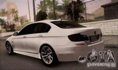 BMW 520d 2012 для GTA San Andreas вид слева