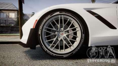 Chevrolet Corvette Z06 2015 TireBFG для GTA 4 вид сзади