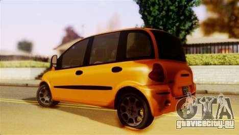 Fiat Multipla Normal Bumpers для GTA San Andreas вид слева