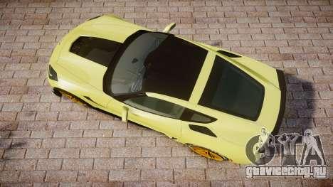 Chevrolet Corvette Z06 2015 TireGY для GTA 4 вид справа