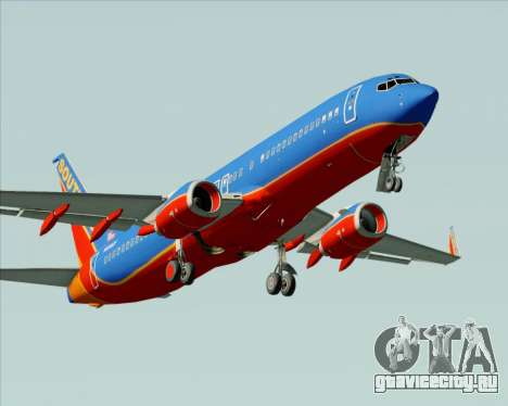 Boeing 737-800 Southwest Airlines для GTA San Andreas двигатель