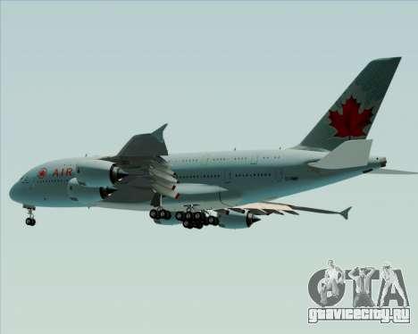 Airbus A380-800 Air Canada для GTA San Andreas вид изнутри