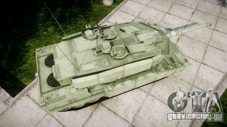 Leopard 2A7 PT Green для GTA 4 вид справа