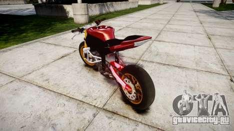 Yamaha YZF-R6 Stunt для GTA 4 вид сзади слева