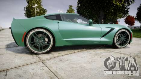 Chevrolet Corvette C7 Stingray 2014 v2.0 TireMi3 для GTA 4 вид слева