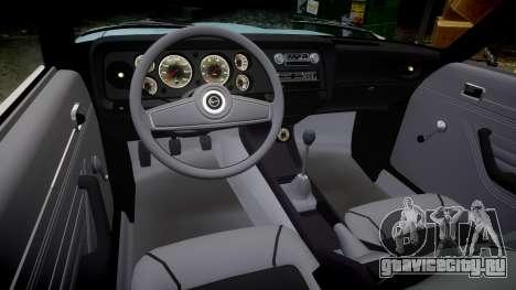 Ford Capri GT Mk1 для GTA 4 вид изнутри
